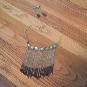 NY & co necklace and earring set
